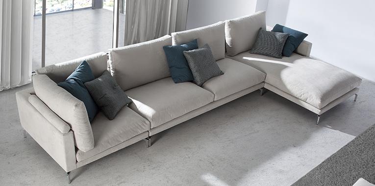 decoración textil: sofá